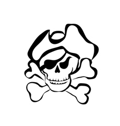 symbol pirate vector image