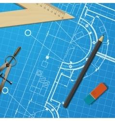 Technical blueprint of mechanism vector
