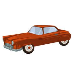 Vintage transport 50s retro vehicle sports auto vector