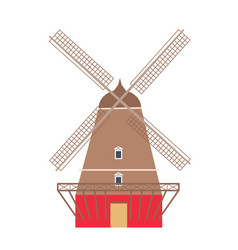 windmill icon isolated on white background vector image