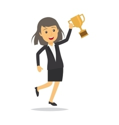 Businesswoman with top honour character vector image