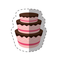cake dessert delicious sweet shadow vector image vector image