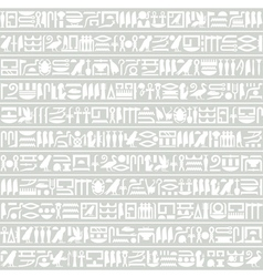 Egyptian hieroglyphic decorative horizontal vector image