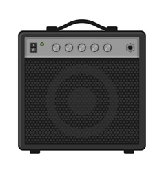 Electric Guitar Amplifier on White Background vector image
