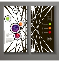 flyer with elements of infographics vector image vector image