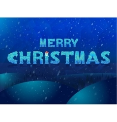 Ice inscription Merry Christmas Design for vector image vector image