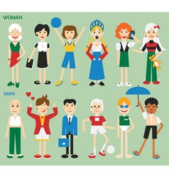 man and women vector image vector image