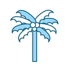 cute blue beach palm cartoon vector image