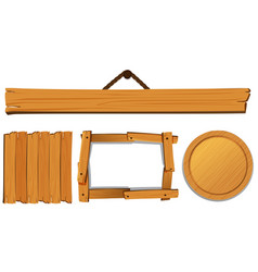 different templates for wooden board vector image