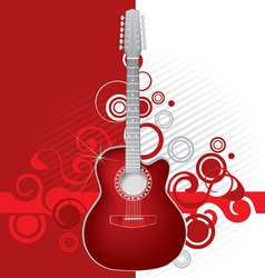 red guitar vector image