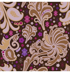 Seamless pattern in brown coloring vector image vector image
