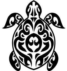 Turtle tribal tattoo vector image vector image