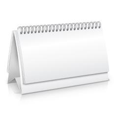 Desk calendar mockup vector image