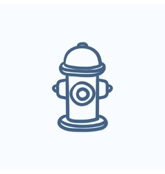 Fire hydrant sketch icon vector image