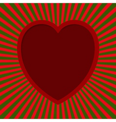 Heart With Beams vector image