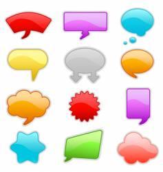 message bubbles vector image vector image