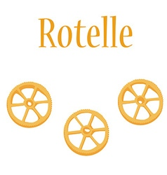 Rotelle pasta vector image vector image