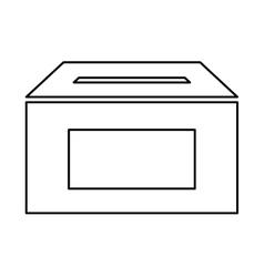 ballot box carton isolated icon vector image