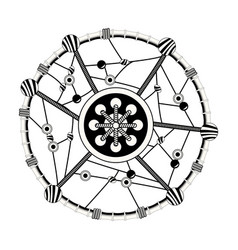 dream catcher free spirit decoration ethnic image vector image