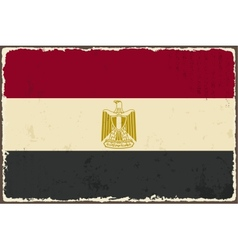 Egyptian grunge flag vector image