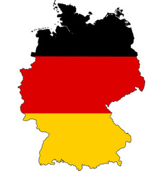 germany map outline with flag vector image