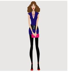 Modern fashion girl vector