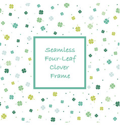 seamless square springtime frame vector image