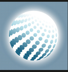 set abstract halftone 3d spheres 15 vector image vector image