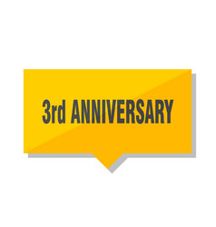 3rd anniversary price tag vector