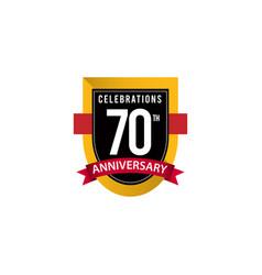 70 th anniversary celebrations gold black white vector