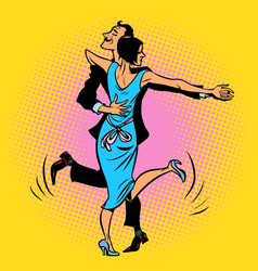 a couple dancing charleston vector image