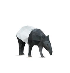 Abstract tapir vector