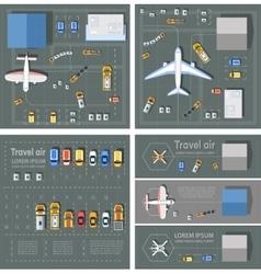 Airport passenger terminal vector