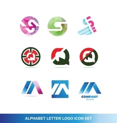 Alphabet letter logo icon set vector image