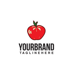 apple hand draw logo vector image