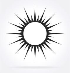 Black stylized sun rays element vector
