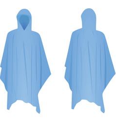 Blue rain coat vector