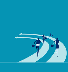 Business people run on arrows concept vector