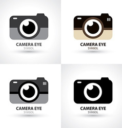Camera eye symbol icon vector image