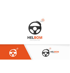 car helm and bomb logo combination vector image