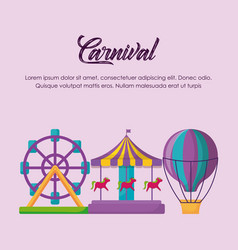 carnival circus design vector image