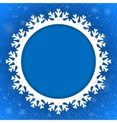 Circle Blue Background New Year Snow Snowflake vector