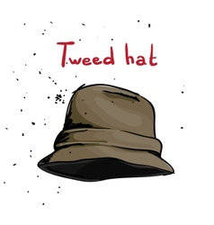 Classic hat vector image