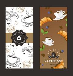 Coffee shop and bar since year logo vector