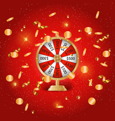 Colorful wheel fortune chance victory vector