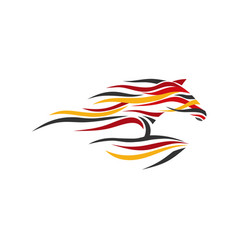 creative abstract horse color vector image
