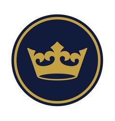 Crown golden vector