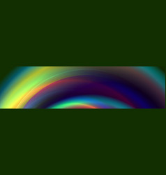 dark colorful glowing abstract wavy background vector image