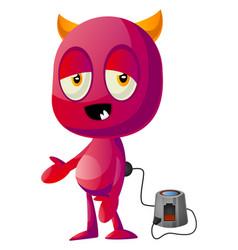 devil on charging on white background vector image