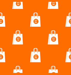Duty free shopping bag pattern seamless vector